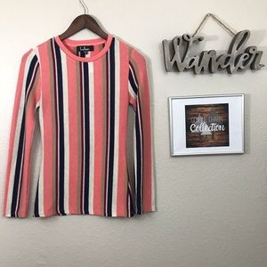 Lulu's Multi Striped Sweater Top